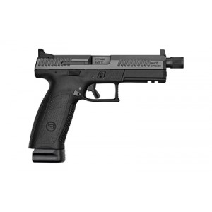 "CZ P-10 Full Size 9mm 21+1 4.5"" Pistol in Black Nitride (Threaded + Suppressor Sights) - 91543"