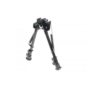 "Leapers, Inc. - UTG Tactical Op Bipod, Fits Picatinny Rail Or Swivel Stud, 8.3"" - 12.7"", Tactical/Sniper Profile With Adjustable Height, Black Tl-BP88"