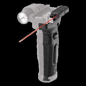 "Crimson Trace MVF515 Mod Vert Foregrip Red Laser AR15 632nm .50""@50ft CR-123 Li"