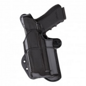 Aker Leather 267 Nightguard Left-Hand Paddle Holster for Sig Sauer P220 in Black (W/ Streamlight M3) - H267BPLU-S226M3
