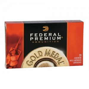 Federal Cartridge Gold Medal Target .223 Remington/5.56 NATO Sierra MatchKing BTHP, 77 Grain (20 Rounds) - GM223M3