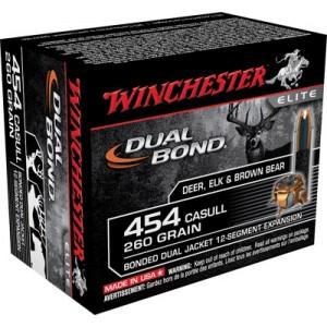Winchester Elite .454 Casull Dual Bond, 260 Grain (20 Rounds) - S454DB