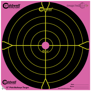 "Caldwell 317-536 Orange Peel Targets Bullseye 12"" Pink/Black 5 Pack"