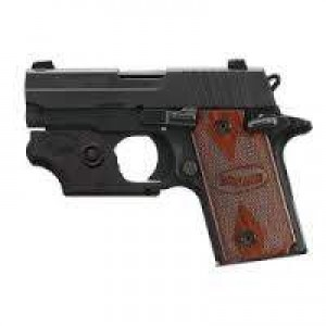 """Sig Sauer P238 Micro-Compact Rosewood .380 ACP 6+1 2.7"""" Pistol in Black Nitron (Rosewood Grip) - 238380RGLSR"""