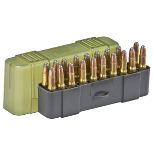 Small Rifle Ammo Case holds 20 rounds of .22-250, .250 Savage, .30-30 Win., .32 Win., and .233 Caliber Bullets