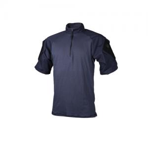 Tru Spec Combat Shirt Men's 1/4 Zip Short Sleeve in Navy - 2X-Large