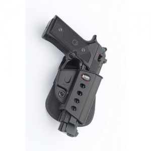 "Fobus USA Belt Right-Hand Belt Holster for Beretta 92 in Black Smooth Plastic (5"") - BRVBH"