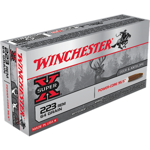 Winchester Super-X .223 Remington/5.56 NATO Power Core, 64 Grain (20 Rounds) - X223LF