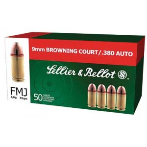 Magtech Ammunition .380 ACP Full Metal Jacket, 92 Grain (50 Rounds) - SB380A