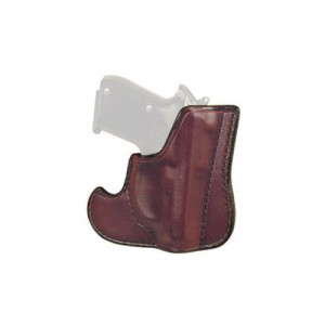 Don Hume 001 Front Pocket Holster, Fits Glock 43, Ambidextrous, Brown Leather J100306r - J100306R