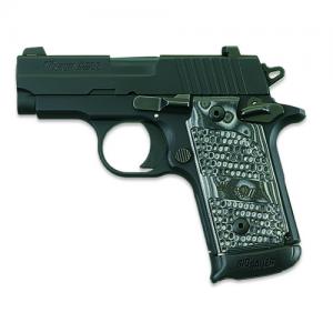 "Sig Sauer P238 Micro-Compact Extreme .380 ACP 7+1 2.7"" Pistol in Black Nitron (Black/Gray Hogue G10 Piranha Grip) - 238380XTMBLKGRY"