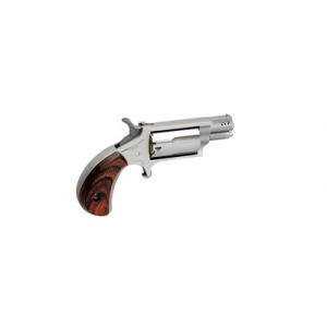"""North American Arms Ported Snub .22 Winchester Magnum 5+1 1.125"""" Pistol in Stainless - NAA-22MS-P"""
