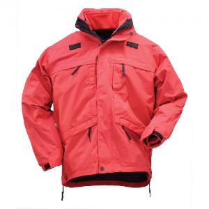 5.11 Tactical 3-in-1 Men's Full Zip Jacket in Range Red - 2X-Large