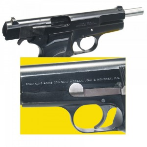 """Pre-Owned Browning - Imported by LSY Defense High Power 9mm 13+1 4.64"""" Pistol in Blued - BRNHP-BB-PO"""