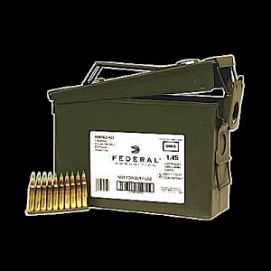 Federal Cartridge .223 Remington/5.56 NATO Full Metal Jacket, 62 Grain (420 Rounds) - XM855F1AC1