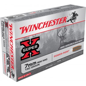 Winchester Super-X 7mm Remington Magnum Power-Point, 150 Grain (20 Rounds) - X7MMR1