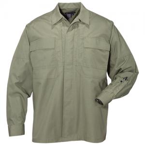 5.11 Tactical Taclite TDU Men's Long Sleeve Shirt in TDU Green - 2X-Large