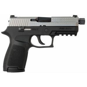 """Sig Sauer P250 Compact Diamond Plate 9mm 15+1 3.9"""" Pistol in Two Two - Black Nitron (Threaded Barrel) - 250C9DPTB"""