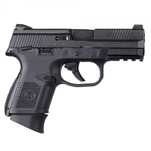 """FN Herstal FNS-9 Compact 9mm 10+1 3.6"""" Pistol in Black (Manual Safety) - 66691"""
