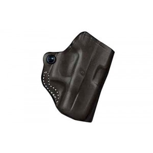"""Desantis Gunhide 19 Mini Scabbard Right-Hand Belt Holster for Smith & Wesson M&P22 Compact in Black Leather (3.56"""") - 019BA3AZ0"""