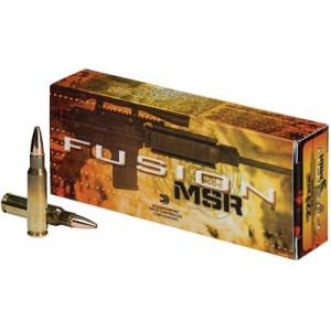 Federal Cartridge Fusion MSR Medium Game .223 Remington/5.56 NATO Fusion, 62 Grain (20 Rounds) - F223MSR1