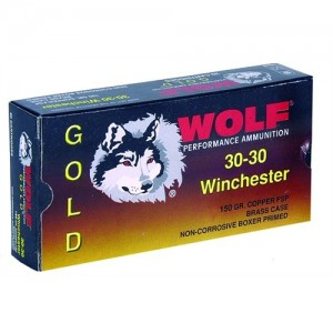 Wolf Performance Ammo Gold .30-30 Winchester Jacketed Soft Point, 150 Grain (20 Rounds) - G3030SP1