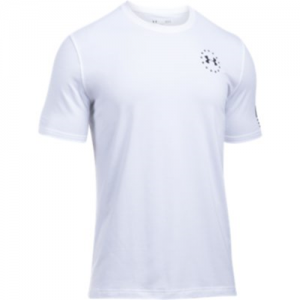Under Armour Freedom Flag Men's T-Shirt in White/Black - Small