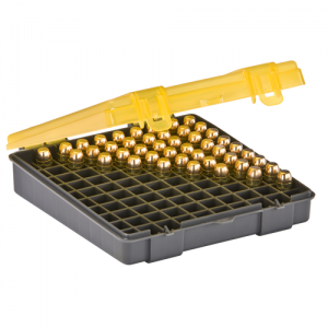 Handgun Ammo Case holds 100 rounds of .45 ACP, .40 S&W and 10mm Caliber Bullets