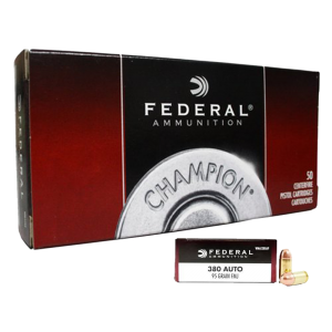 Federal Cartridge .380 ACP Full Metal Jacket, 95 Grain (50 Rounds) - WMAE380AP