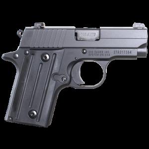 "Sig Sauer P238 Micro-Compact .380 ACP 6+1 2.7"" Pistol in Black Nitron (SIGLITE Night Sights) - 238380BSS"