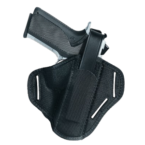 "Uncle Mike's Slide Ambidextrous-Hand Belt Holster for Medium/Intermediate Double Action Revolvers in Black (4"") - 8602"
