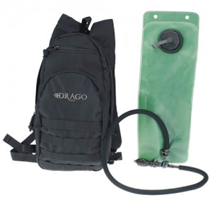 Drago Gear Black Hydration Pack 600 Denier Polyester 11301BL