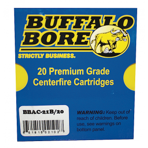 Buffalo Bore Ammunition 10mm Jacketed Hollow Point, 180 Grain (20 Rounds) - 21B/20