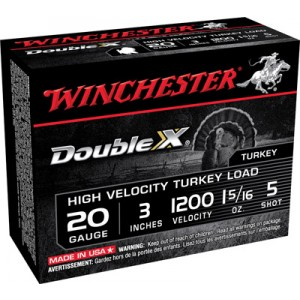 """Winchester Supreme Double X Turkey .20 Gauge (3"""") 5 Shot Lead (10-Rounds) - STH2035"""