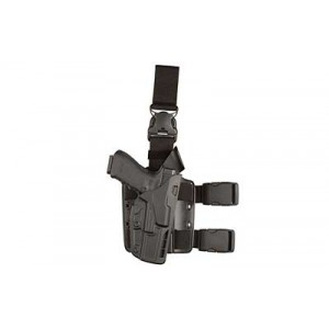 Safariland 7TS ALS Tactical w/ Quick Release Right-Hand Thigh Holster for Smith & Wesson M&P in Black Safari Seven (W/ Quick-Release Leg Strap) - 7385-219-411