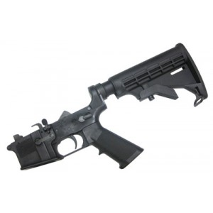 Cmmg Complete Lower Receiver, Semi-automatic, 9mm, Black Finish, 6 Position Stock 90ca360