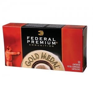 Federal Cartridge Gold Medal .45 ACP Full Metal Jacket Semi Wadcutter, 185 Grain (50 Rounds) - GM45B