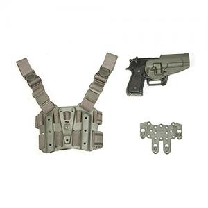 Blackhawk STRIKE Combo Kit Right-Hand Multi Holster for Beretta M9, 92 Serpa in Black - 40SC02FG-R