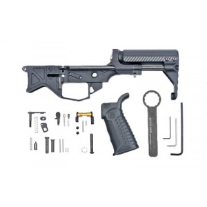 Battle Arms Development, Inc. Pdw Lower Receiver, Pdw Stock, And Ultra Compact Buffer System, 223 Rem/556nato, Black Finish, Complete Lower Package Except Trigger Group, Will Not Work With Solid Filled 9mm Bolt Carrier, Use Of Fail Zero Nickle Boron Bolt