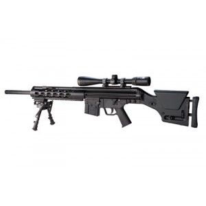 "Ptr Industries Msg 91 Ss, Semi-automatic, 308 Win/762nato, 20"" Match Grade Barrel, Black Finish, Magpul Prs2 Stock Adjustable For Cheek And Pull, 10rd, Harris Bi-pod, Welded Scope Mount Ptr107"