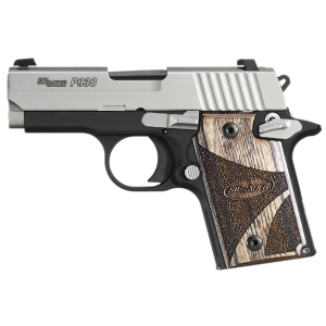 "Sig Sauer P938 Micro-Compact Blackwood 9mm 6+1 3"" Pistol in Black Nitron (Blackwood Grip) - 9389BGAMBI"