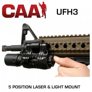 "CAA Command Arms 1"" Black Flashlight/Laser Mount UFH3"