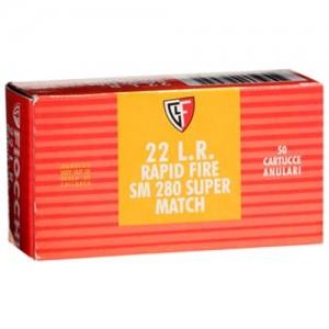 Fiocchi Ammunition Super Match .22 Long Rifle Round Nose, 40 Grain (50 Rounds) - 22SM280