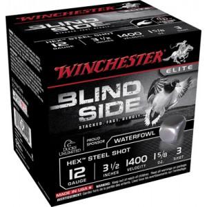 "Winchester Blindside Waterfowl .12 Gauge (3.5"") 3 Shot Steel (250-Rounds) - SBS12L3"