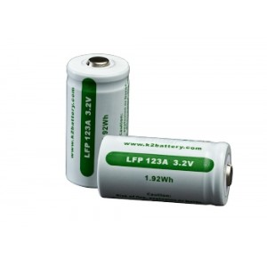 Surefire- Laser Products CR123 3V High Performance Batteries SF2CB