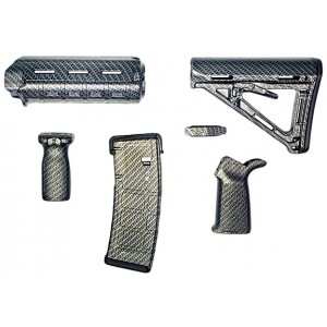 Matrix Diversified Ind Magpul ComSpec AR-15 Furniture Kit Carbon Fiber Finish MAGCOM08CF