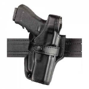 """Safariland Model 070 SSIII Mid-Ride Level III Right-Hand Belt Holster for Glock 20, 20C, 21, 21C in Plain Black (4.6"""") - 070-383-161"""