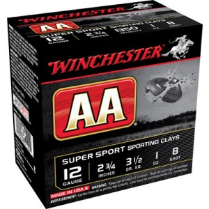 "Winchester AA .12 Gauge (2.75"") 8 Shot Lead (250-Rounds) - AASCL128"