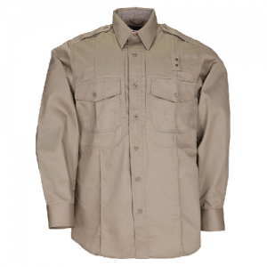 5.11 Tactical PDU Class B Men's Long Sleeve Uniform Shirt in Silver Tan - 2X-Large