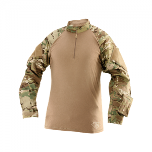Tru Spec Combat Shirt Men's 1/4 Zip Long Sleeve in Multicam - Medium
